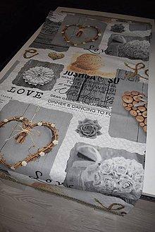 Úžitkový textil - STŘEDOVÝ BĚHOUN .. srdce 53 x 160 cm - 9004244_