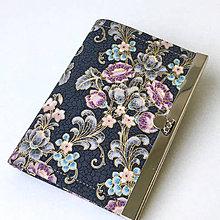 Peňaženky - Zlatotisk s růžovou - organizér na karty - 9006875_
