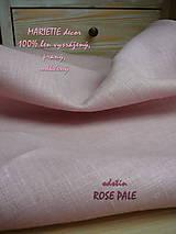 Textil - 100% len metráž, 190g/m2...odstín ROSE PALE - 9005814_