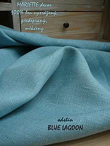 Textil - 100% len metráž, 240g/m2...odstín BLUE LAGOON - 9005829_