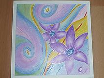Obrazy - Obrázok-Fialové kvety - 9004705_