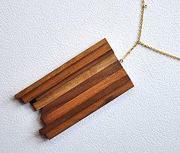 Náhrdelníky - Static 1 /drevený šperk/ - 9004760_
