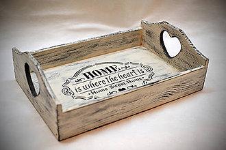 Nádoby - Podnos HOME OLD WHITE - 9004212_
