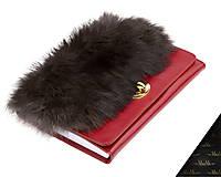 - Kožený zápisník / karisblok MARIMA - červený, A5 - 9004388_