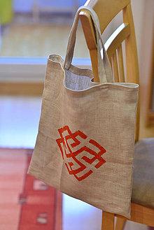 Nákupné tašky - Ľanová nákupná taška Rodimič - 9004873_