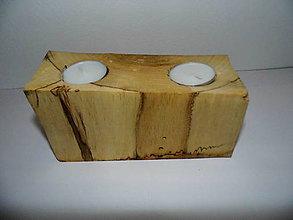 Svietidlá a sviečky - Svietnik drevený-orech - 9006114_