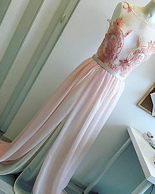 Šaty - Light Pink Dress - 9003779_