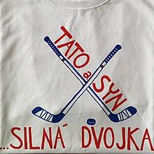 Oblečenie - Otcosynovské duo s hokejovým motívom - 9003766_