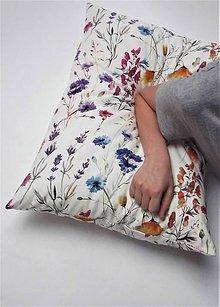 Úžitkový textil - Vankúš kvety - 9003936_