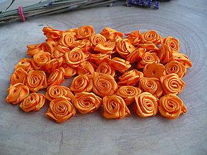 Galantéria - saténové ružičky 13 až 15 mm - 20 ks - 9004361_