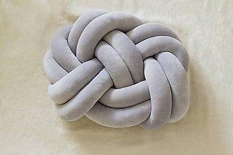 Úžitkový textil - Pletený vankúš - 9006442_