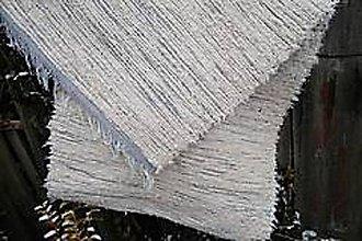 Úžitkový textil - Tkané koberce z pucvlny krémovo-sivé - 9005279_