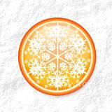 Dekorácie - Vločkové citrusy - grafika na zdobenie koláčov - 9006253_
