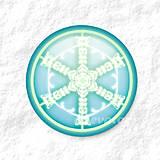 Dekorácie - Vločkové citrusy - grafika na zdobenie koláčov - 9006256_