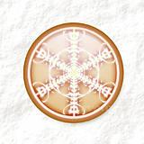 Dekorácie - Vločkové citrusy - grafika na zdobenie koláčov - 9006313_