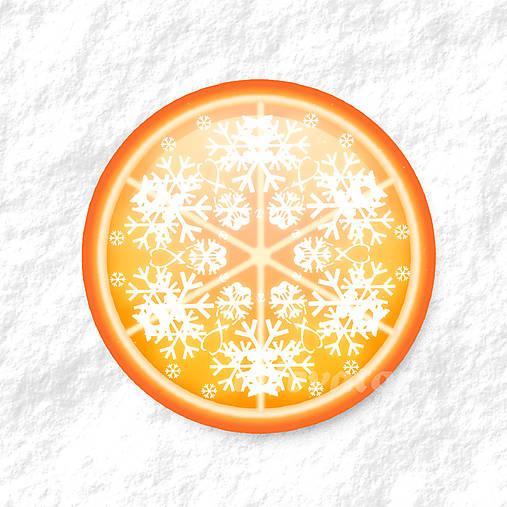 Vločkové citrusy - grafika na zdobenie koláčov