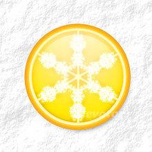 Dekorácie - Vločkové citrusy - grafika na zdobenie koláčov (citrónový) - 9006254_