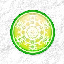 Dekorácie - Vločkové citrusy - grafika na zdobenie koláčov (limetkový) - 9006255_