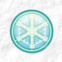 Dekorácie - Vločkové citrusy - grafika na zdobenie koláčov (mentolový) - 9006256_