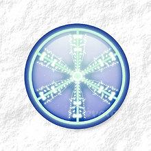 Dekorácie - Vločkové citrusy - grafika na zdobenie koláčov (modrý) - 9006257_