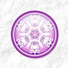 Dekorácie - Vločkové citrusy - grafika na zdobenie koláčov (fialový) - 9006258_