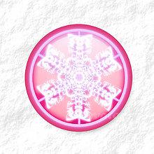 Dekorácie - Vločkové citrusy - grafika na zdobenie koláčov (cyklamenový) - 9006259_