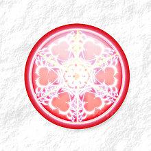 Dekorácie - Vločkové citrusy - grafika na zdobenie koláčov (červený) - 9006260_