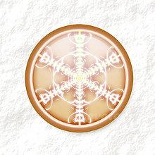 Dekorácie - Vločkové citrusy - grafika na zdobenie koláčov (čokoládový) - 9006313_