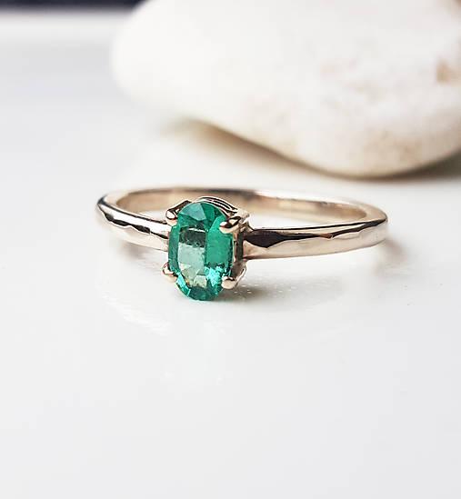 Prstene - Creasing hammer (smaragd) - 9010076_