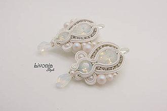 Náušnice - Náušnice White Opal - Pearls - 9011095_