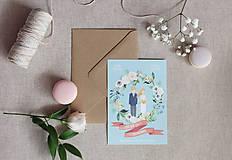 Papiernictvo - Svadobné oznámenie Portrait A6 - 9009745_