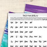 Papiernictvo - Tagy na Bibliu - malé (krasopisné) - 9010415_