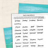 Papiernictvo - Tagy na Bibliu - veľké (krasopisné) - 9010453_