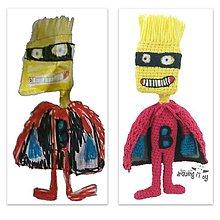 Hračky - Hračka z detskej kresbičky :) Bart superhrdina - 9009503_