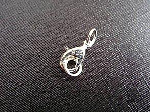 Komponenty - Karabínka s krúžkami, 925 striebro - 9010936_