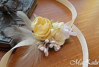 Náramky - svadobný náramok pre družičky / vintage / - 9007647_