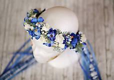 Ozdoby do vlasov - Ľudová kvetinová parta na štýl venčeka - 9011030_