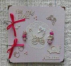 Papiernictvo - Fotoalbum v ružovom pre dievčatko - 9007265_