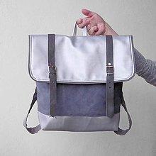 Batohy - Aktovkový batoh (Silver) - 9007894_