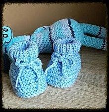 Topánočky - Papučky modré - 9009778_