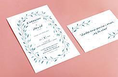Grafika - Svadobné oznámenie s vetvičkami - 9008302_