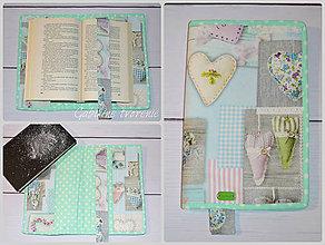 Úžitkový textil - Obal na knihu LOVE - 9010063_