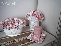 Dekorácie - Ružový set. - 9007365_