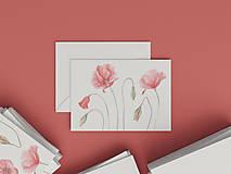 Papiernictvo - Akvarelová pohľadnica | botanická ilustrácia Maku vlčieho II. - 9009715_