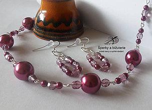 Sady šperkov - Súprava - staroružové perly - 9010167_