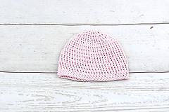 Detské čiapky - Ružová letná čiapka BIO/ORGANIC - 9008159_