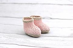 Ružovo-béžové letné papučky EXTRA FINE