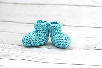 Topánočky - Tyrkysové letné papučky EXTRA FINE - 9008273_