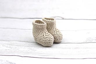 Topánočky - Béžové letné papučky EXTRA FINE - 9008340_