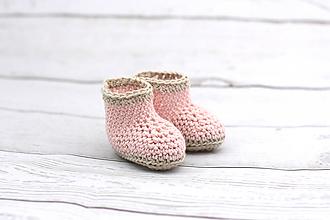 Topánočky - Ružovo-béžové letné papučky EXTRA FINE - 9008377_